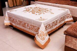 Neuf Rétro Ethnique Floral Carré Nappe Indien Coton Table Housse Tissu