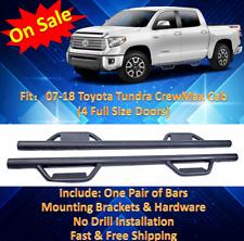 07-18 Fit Toyota Tundra Crew Max Hoop Step Running Board Texture Blk Nurf Bars P