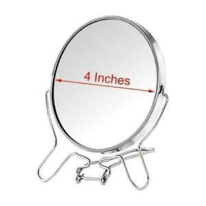 "Face Cosmetic Folding Magnify Make Up Travel Vanity Shaving Bath Round Mirror 4"""