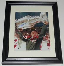 SCOTTY BOWMAN AUTOGRAPHED 8X10 COLOR PHOTO (FRAMED & MATTED) - DETROIT RED WINGS