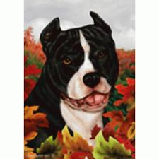 Fall Garden Flag - Black and White American Pit Bull Terrier 134051