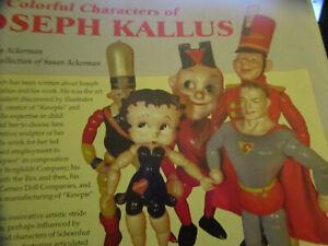 18pg Joseph Kallus Doll History Magazine Article /COLORFUL CHARACTERS/Ackerman