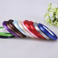 10 Colors 6mm 25 Yards Satin Ribbon Wedding Party Craft Sewing Gift Home Decor