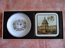 1981 Royal Wedding Princess Diana & Prince Charles Coasters & Dish Boxed Set