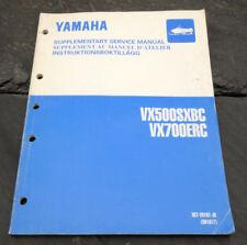 1999 Yamaha VX500SXBC VX700ERC Snowmobile Supplementary Service Manual