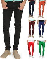 Soul Star Men's Skinny Slim Fit Stretch Jeans Tapered Tight Denim Pants Trousers
