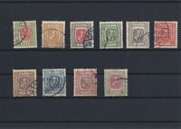 Iceland 1907 used stamps CAT 75+ Ref: R4186