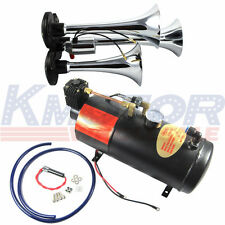 150 PSI Air System Air Compressor 12V 150dB+ With 3-Trumpet Train Air Horn Kit