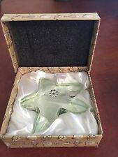 Oleg Cassini Crystal Starfish Paperweight GREEN New in Box