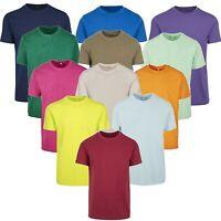 Herren T-Shirt Round Neck Basic Tee Lang und Schmal Schnitt körperbetont