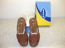 Dr. Scholls Comfort Sandals Size 7.5 Wide Vintage Brown Aztec Leather New n Box