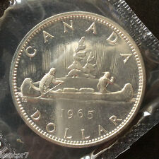 1965 Canada Dollar Proof-Like Brilliant Ucirculated Canadian Coin A4052