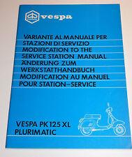 Modificación del taller de mano libro-Vespa PK 125 XL plurimatic-Piaggio 405022