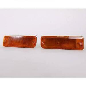 Fit 1989-1995 Toyota Pickup 4Runner Amber Bumper Parking Signal light Left+Right