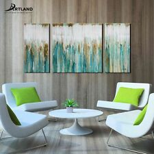 Abstract Oil Painting on Canvas Wall Art Set Hand-painted Framed 'Breezy Valley'