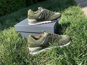 Mens New Balance 574 Athletic Shoe - Oakleaf Green / Plaid Choose Size
