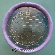 Portugal 2 Euro Rolle 2015 Rotes Kreuz mit 25 x 2 Euro Gedenkmünzen coins roll