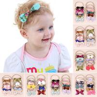 10Pcs/Set Baby Elastic Hair Band Newborn Bows Headbands Kids Toddler Hairband