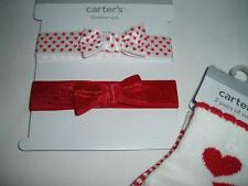 New Carter's Newborn Baby Girls 2 Headwraps and 2 Pair Socks Set