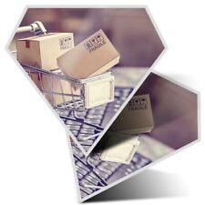 2 X Diamant Autocollants 7.5 cm-Online Shopping chariot drôle #21966