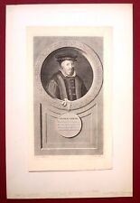 Eau forte originale, Nicolas Bacon, Gunst d'après van der Werff, XVIIe