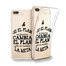 Funda gel dibujo Frase Si el plan no.. para Iphone 6 7 8 plus X Xs Xs MAX XR