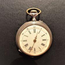 """Pequeño resbalón reloj de bolsillo, """"argent fin"""", zylinderhemmung, buena función, 1900 aprox."""