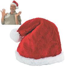 Santa Claus Hat - Premium Plush Faux Fur Holiday Christmas Cap - US Seller - NEW