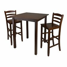 Winsome Wood Parkland Three-Piece High Table Dining Set - 94559, 4 Chairs