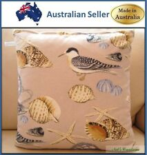 Beach Themed Sea Shells and Birds Cushion Covers, Made in Australia +FREE RUNNER