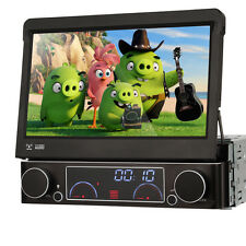 1Din Flip Out Stereo Radio GPS Navigation Car DVD Player TV Headunit Video Audio