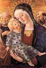 Metal Sign Francesco Di Giorgio Martini Madonna With Child And Two Saints A4 12x