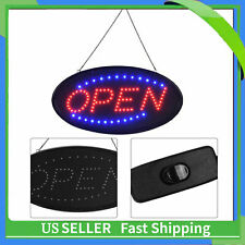 LED OPEN Sign Animated Motion Running Business + On/Off Switch/ Bright Light NEW