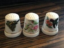 Thimbles - Set of 3 - Birds - Made in Britain (b59)