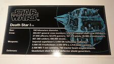 Star Wars Sticker for Lego® 10188/75159 Death Star Typenschild Plate
