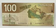 Canadian 2004 $100 Sheet Replacement Note Serial # EJE1838779