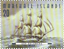 USS Delaware 20¢ Stamp (50-8) Marshall Islands Fighting Ships of the 50 States
