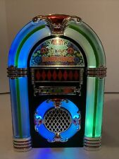 60's Peace Love & Rock & Roll Tabletop Jukebox Musical Collectible Nostalgic 10�