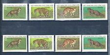 1973 VIETNAM Wild Animals, animales salvajes, fauna ,Perforada e Imperforada