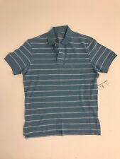 Eddie Bauer Mens Blue And White Striped Polo Sz Smal NWT