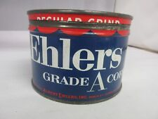 VINTAGE EHLERS  BRAND  COFFEE TIN ADVERTISING COLLECTIBLE GRAPHICS M-56