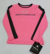 Harley-Davidson Girls Pink Long Sleeve Poly Tech Shirt Size 6