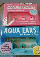 Disney Pixar Finding Nemo Hello Kitty Aqua Ear Plugs Soft Silcone 6 Pairs w Case