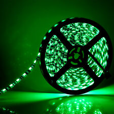 5M 16.4 Ft 5050 SMD 300LED Green LED Strip Light Black PCB IP65 Waterproof USEG