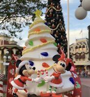 NEW 2020 Disney Parks White Christmas Tree Holiday Popcorn Bucket Mickey Minnie