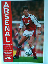 MINT 1991/92 Arsenal v Manchester United 1st Division