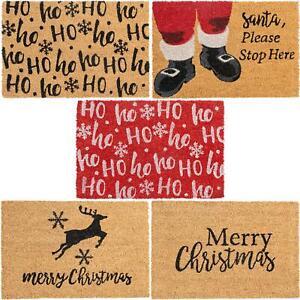 Christmas Door Mat Non-Slip Natural Coir Indoor Outdoor Welcome Mats 60 x 40cm