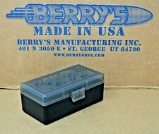 9mm /.380 PLASTIC STORAGE AMMO BOXES (SMOKE / BLACK) BERRY'S BUY 3 GET 1 FREE