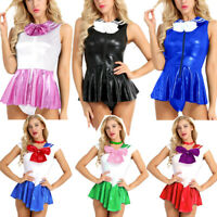 Womens Adults Anime Sailor Moon Cosplay School Costume Uniform Fancy Party Dress