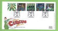 G.B. 2002 Circus set on Royal Mail First Day Cover, Manchester